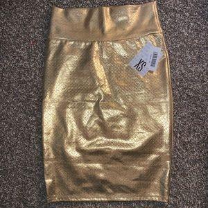 Lularoe Cassie gold skirt